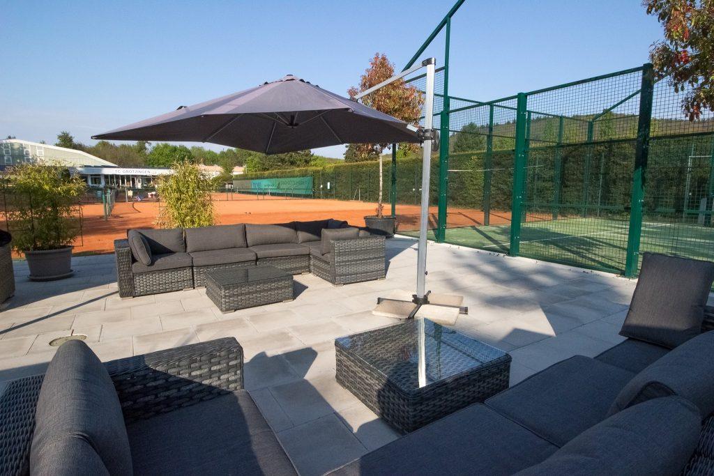 Padel Courts integriert in die Tennisanlage des TC Grötzingen